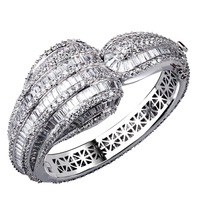 2014 super quality platinum plated zirconia bangle bracelet for  woment
