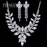 Necklace+ Earring Hot Selling Zinc Alloy Tassel Flower Leaves Bridal Jewelry Sets  #N1677