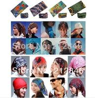 Women and men Bandanas Skull Caps Headscarves Hair Cool Headwear pirate hat Mast scarf tube print color Paisley Seamless Bandana