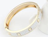OU4011 2015 Fashion Chunky Luxury Dubai Druzy Leaf Cuff Women Bracelet,Hot New Trending,Party ,Big Event Bangles