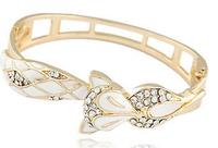 OU4009 2015 Fashion Chunky Luxury Dubai Druzy Leaf Cuff Women Bracelet,Hot New Trending,Party ,Big Event Bangles