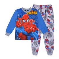 Children's Underwear Clothes new spider-man autumn Winter pajamas children's long t-shirt +pants sets baby boys sleepwear