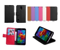 Luxury Wallet Stand Leather Case For Samsung Galaxy S5 G900 i9600 With Credit Card Holder Mobile Phone Cases, 1Pcs