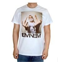 Eminem's middle finger Eminem rap God rap emperor Tshirt - white T-shirt