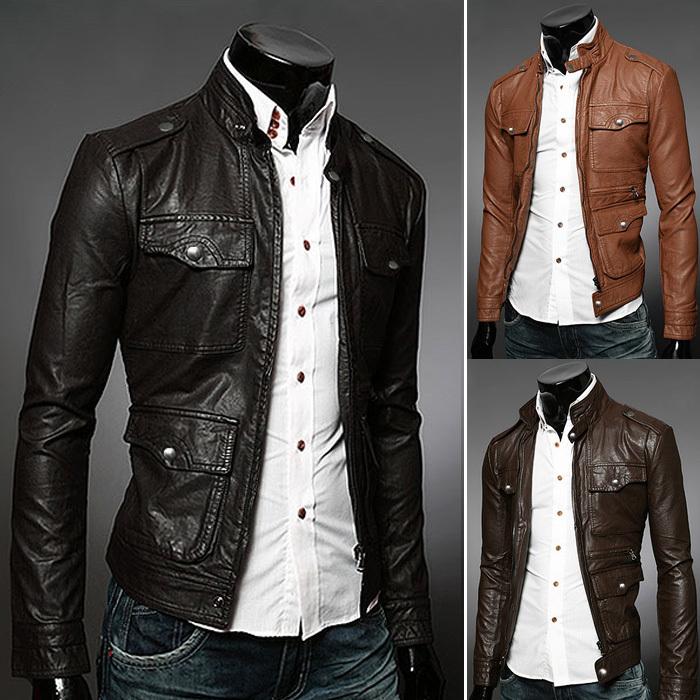 Best Wholesale Men'S Leather Jacket Winter Black Leather Jackets ...