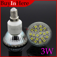 E14 Spot light 19PCS SMD 5050 LED 3W Warm/Cool White Bulb Glass Light Lamp AC 180-240V Home Energy Saving For hotel showroom