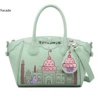 2014 summer fashion handbags embroidered cream color shoulder bag Messenger bag large hand bag