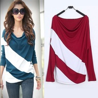Loose Plus Size casual  women blouses Striped Long Sleeve Knitwear cotton Pullover Ladies Blouse shirts blusas femininas  M-XXXL