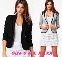 2014 Spring New Fashion Women Blazer short Design Turn Down Collar Slim Blazer Grey Short Jacket Coat Outwear For Women LQ8020