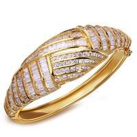 2014 new arrivals bagette cut zirconia fashion bangle bracelet for women high quality gift