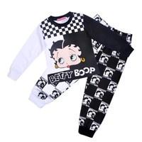 toddler cartoon sleepwear pajamas baby Underwear Clothing children's long t-shirt +pants sets for girls spring autumn