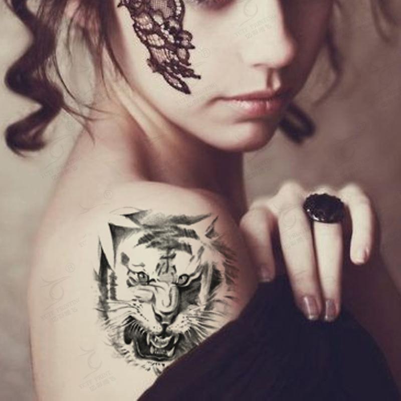 Tiger Footprint Tattoo Animal Temporary Tattoo Tiger