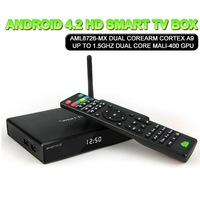 ANDROID 4.2 HD Smart TV BOX Dual core ARM Cortex A9 up to 1.5GHz+Dual core MaLi-400 GPU