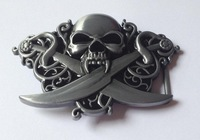 New Skull 3D belt buckle  JF-B1071 suitable for 4cm wideth belt .free shipping