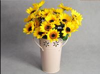 Hot selling news  7 flower sunflower heronsbill flower cloth flower / high simulation flower / sunflower / single sunflower