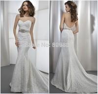robe de mariage mermaid wedding dresses strapless lace wedding dress sexy backless wedding dresses 2014 vestido de noiva curto