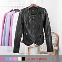2014 new fashion women leather coat of cultivate one's morality, soft leather jacket black jacket zipper long-sleeved jacket