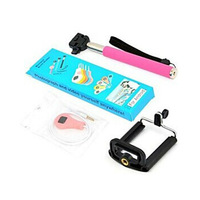 New Handheld Camera Monopod / Stand Holder and Shutter Remote Cable for Samsung S3 S4 S5 N9000 N7100 20pcs/lot Free shipping