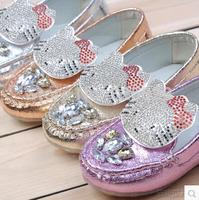 2014 child leather rhinestone owl male female child Moccasins leather princess shoes baby shoes single shoes