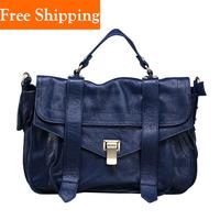 Gossip Girl Genuine Cowhide One Shoulder Bag Messenger Women Leather Satchels Handbags Designers Famous Brands Shoulder Bag