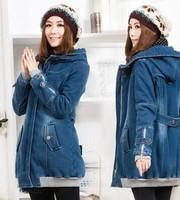 2014 New winter Parka long jacket women warm Jackets wool Parka women's fur Cotton coats winter coat women Down & Parkas Z1162