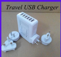 Wholesale100PC USB 6 Port Wall US/EU/UK/AU Plug Charger Power Adapter iPhone Samsung Travel  ( FREE SHIPPING)