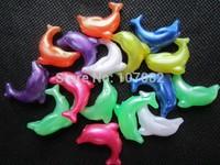 25mm Dolphins Shape Plastic Novelty Bead Jumbo Pony Beads Marine Animal Shape For Kandi Kandy Rave Lacing Bird Toy