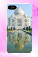 for men&girls unique hot selling designer 2014 cute 80's 4 4S 5 5S 5C print pattern cover for iphone 4S case taj mahal mausoleum