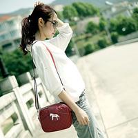 2014 New Women Shoulder Bag Handbag Black / Wine Red / Pink / White Desigual Patchwork Messenger Bag Free Shipping