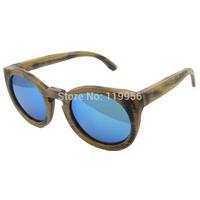 Free Shipping 2014 Hot Sale Popular High Quality 100% Bamboo Wood Sunglasses Women Eyewear With Polarized Lens 6011
