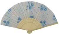 Free Shipping 70pcs/lot Assorted flower fabric bamboo fan for wedding parties