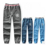 Children's fall clothing big boy cotton trousers summer thin cotton casual pant child boy anti-mosquito pants Fall sports pants