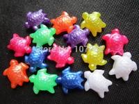 25mm Turtles Shape Plastic Novelty Beads Jumbo Pony Beads Marine Animal Beads For Kandi Kandy Rave Lacing Bird Toy