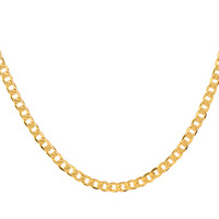 Cool 60cm 18k Yellow Gold Plated Men Design Curb Chain Necklace Men Wholesale,14C0459