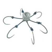 Free shipping Fishing Tackle Sea Monster with Six Strong Spherical 7cm Fishing Hook Hooks