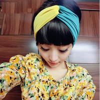 New  Elastic Bump The Color Headband Fashion  Head Wear Cotton Elastic  Hair Accessories