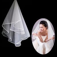 11002IV Free Shipping Ivory wedding veil 1t vestido de noiva wedding accessories 2014 wedding veil with comb short