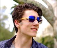 3 colors high quality designer wooden sunglasses aviator wooden sunglasses whosale