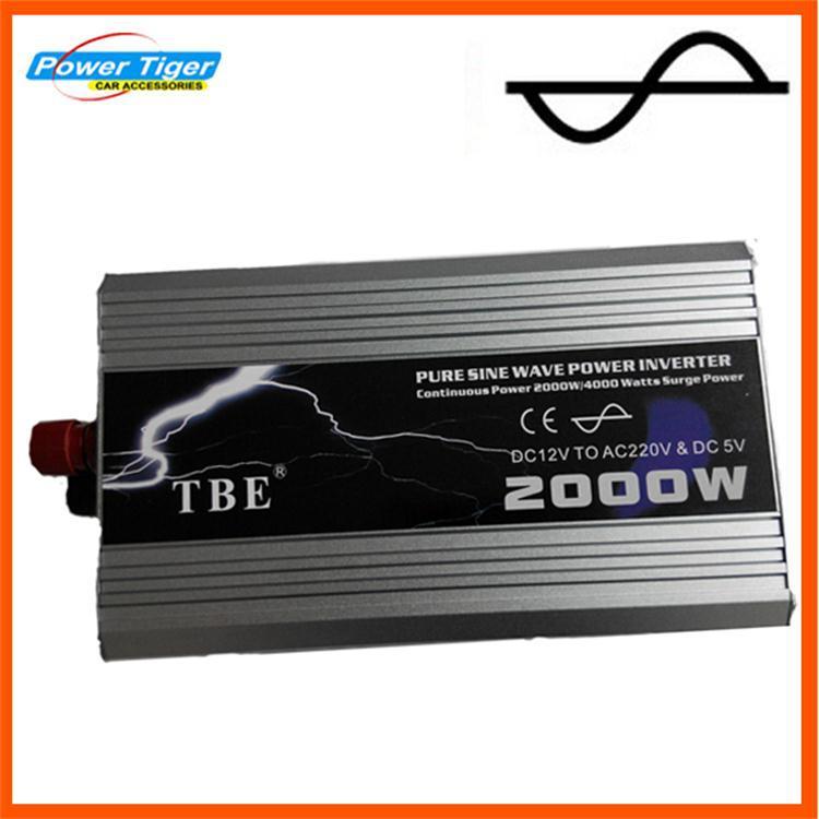 2000w 2000 watt Pure Sine Inverter Converter 12V DC to 220V AC car inverter adapter with usb Peak Power 4000W Car/Home INVERTER(China (Mainland))