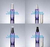 EPF capacity 50ml transparent purple glass press pump bottle, lotion bottle for cosmetic Packaging,cosmetic container