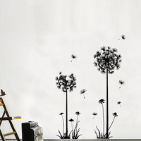 Free shipping  Decor Dandelion Flower Removable Bed Room Art Mural Vinyl Wall Sticker Decal