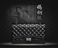 One hundred genuine charm bag 2014 new wave of female handbags imported PU Quilted Black Shoulder Messenger bag