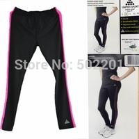2014 New Running Tights Lady's Sports Yoga Pants Women's Jogging Capris Leg Shape Fitness