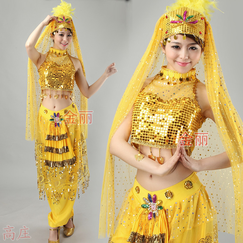 Belly dance costume for kids child indian dancing performance clothing