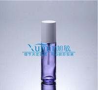 EPF capacity 50ml transparent purple glass press pump bottle,lotion bottlewith white lid,cosmetic bottle, cosmetic Packaging