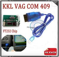 2014  KKL VAG COM 409.1 USB With Good Chip Fidi FT232 FT232R FT232RL Support dual K-lines Diagnostic Scanner Free Shipping