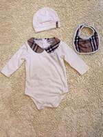 Retail  Brand  2014  New  fashion  spring/autumn/summer  baby's  romper  peter  pan  collar  bids+hat   unesix's  romper