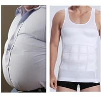 1pc/lot Men Slim Body Shaper Waist Abdomen Underwear Less Beer Belly Compression Men Sport Vest CX870648