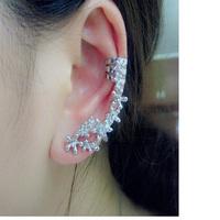 #273 Fashion Silver Plated Star Ear Cuff Earring New Punk Women Earrings Wholesale 24PCS/LOT
