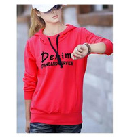 2014 Spring And Autumn New Plus Size Women's Fashion Letters Printed Hooded Sweater Coat Significantly Thin Woman High Quality